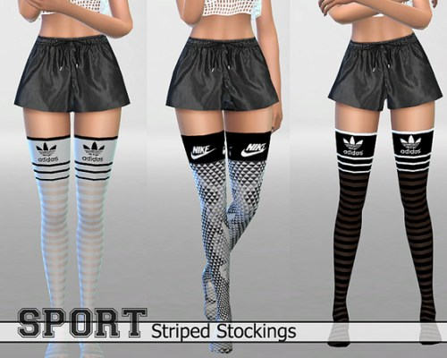 30 Athletic Striped Stockings Pack by Pinkzombiecupcakes