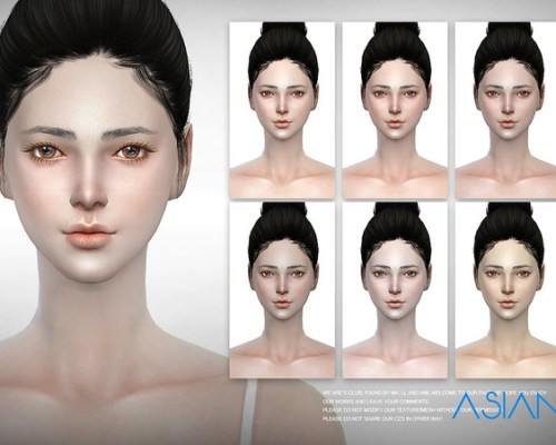 ASIAN skintones 2.0 ALL AGE by S-Club