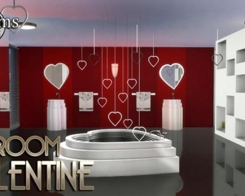 Valentine bathroom