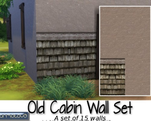 Old Cabin Wall Set by abormotova