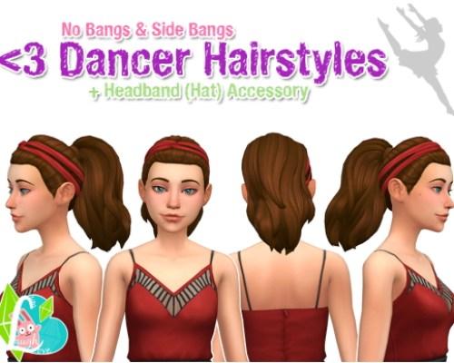 Dancer Hairs (No Bangs & Side Bangs)
