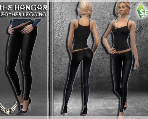 The Hangar Leather Leggings by SimFabulous