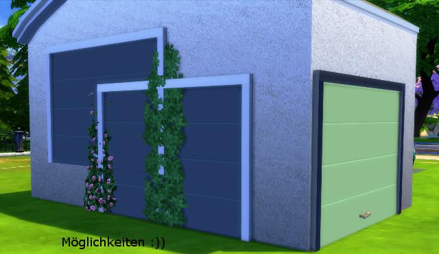 Garage Door By Christine1000 Sims 4 Decor