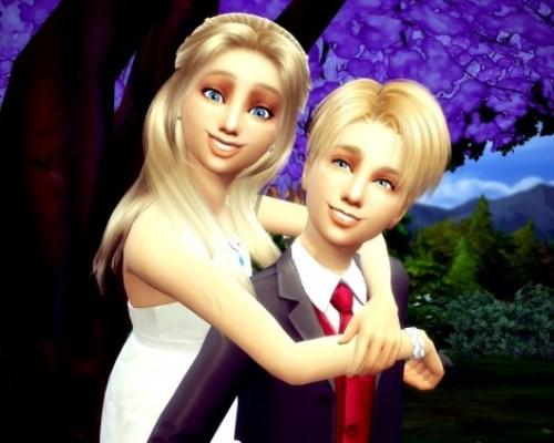 Romantic Couple Kids Pose Override No.5