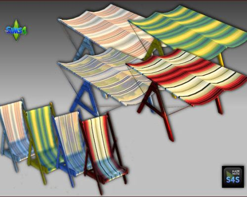 Beach set: chair and canopy by Mabra