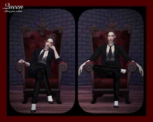 Queen Sitting Poses Set Re-edited