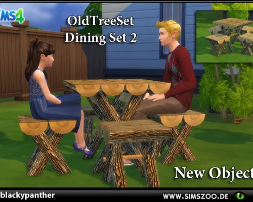 Old Tree Set Dining Set 2 by blackypanther