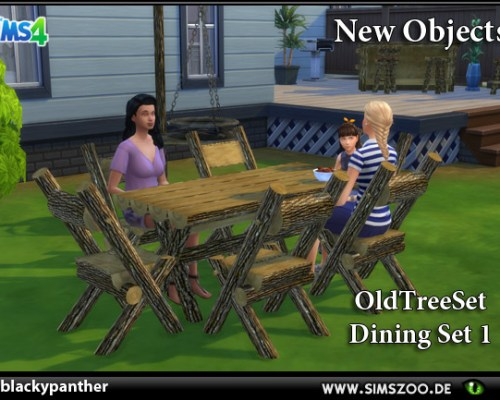 Old Tree Set Dining Set 1 by blackypanther