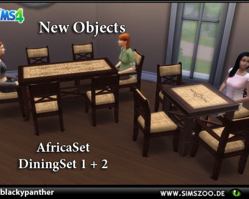 Africa Set Dining 1&2 by blackypanther