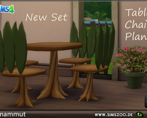Elves Set plant table and chair by mammut