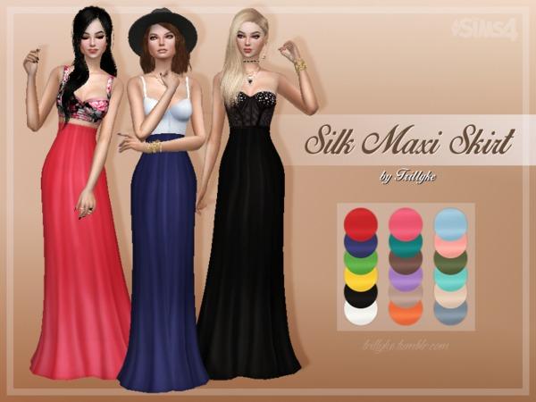 Silk Maxi Skirt By Trillyke