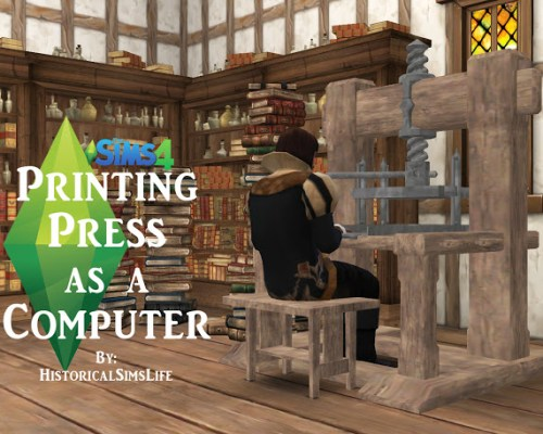 Medieval Printing Press as a Computer by Anni K