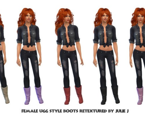 Female Boots Retextured