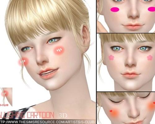 3D Blushing cartoon by S-Club WM