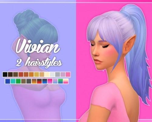 Vivian Hair (Bun + Pony)