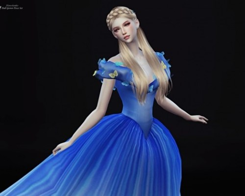 Cinderella Ball Grown Poses Set