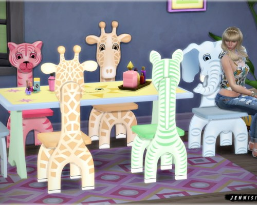 Safari for Kids functional chairs & dining table
