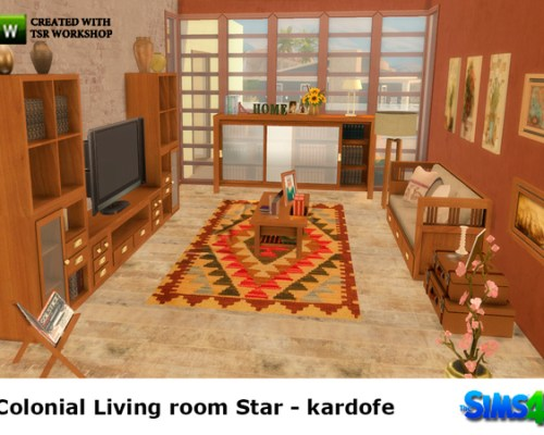 Colonial livingroom Star by kardofe
