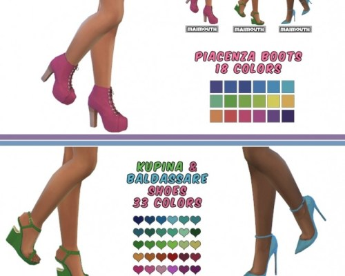 MadlenSims Shoes Recolors