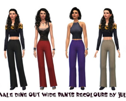 Female Wide Pants Recolours