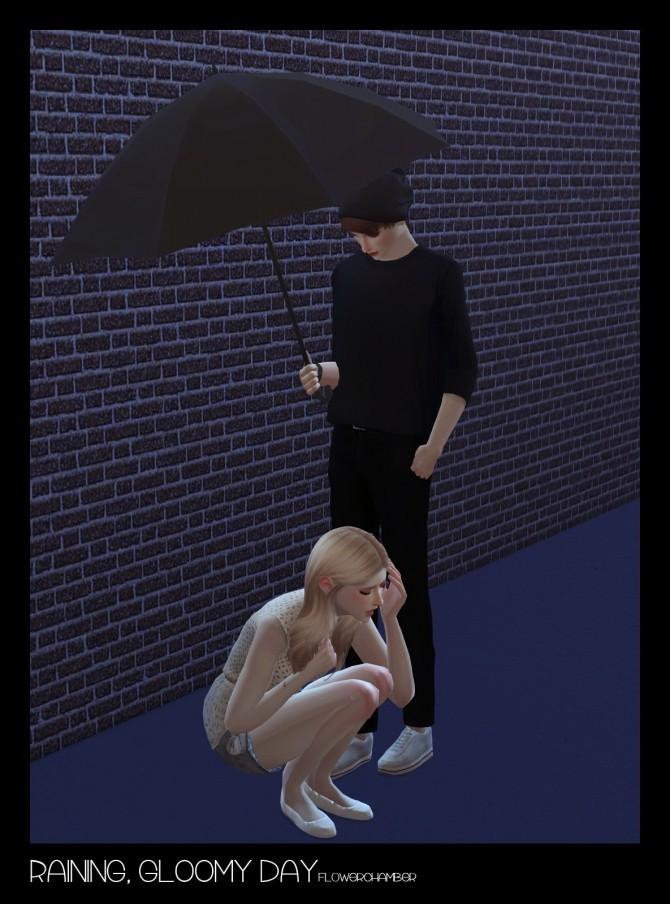 Raining, Gloomy Day (Crying / Umbrella Set) Poses