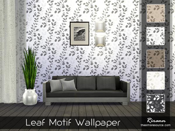 Leaf Motif Wallpaper By Rirann