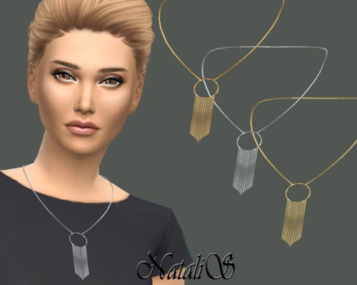 Hanging chain necklace by NataliS