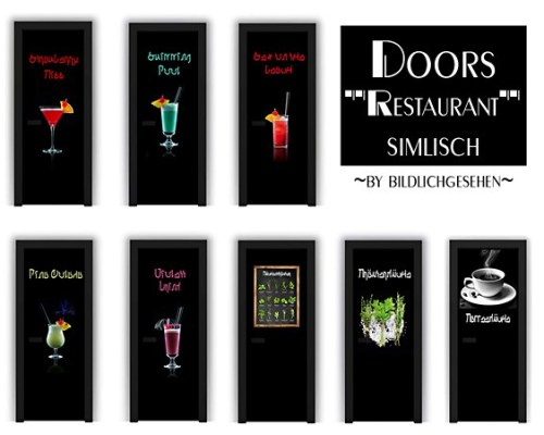 Simlisch Restaurant Doors by Bildlichgesehen