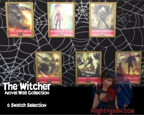 The Witcher Novel Covers Wall Collection by Nightvyxen