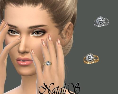 Halo diamond engagement ring by NataliS