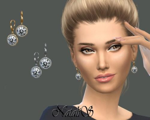 Halo daimond drop earrings by NataliS