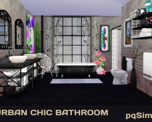 Urban Chic Bathroom by Mary Jiménez
