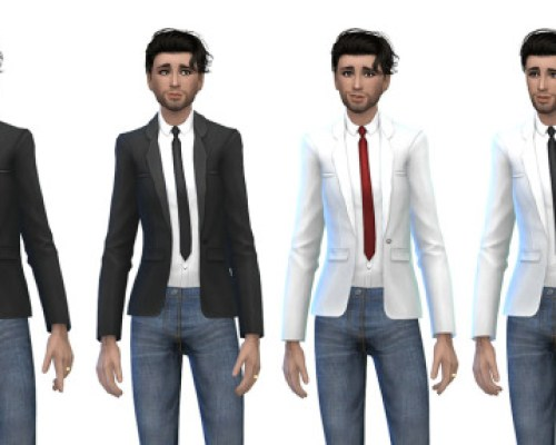 DineOut Stuff Male Suit Jacket and Tie Recolours
