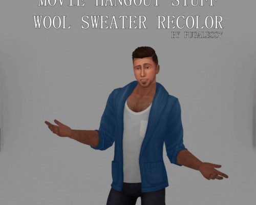 Movie Hangout Stuff Sweater Recolor by pugaless7