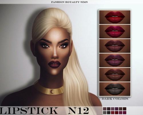 FRS Lipstick N12 by FashionRoyaltySims