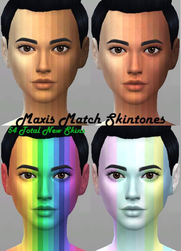 Maxis Match 54 Skintones By Kitty25939