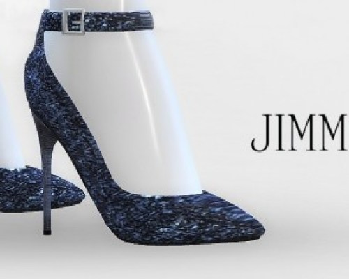 Glitter Ankle-Strap Pumps at — select a
