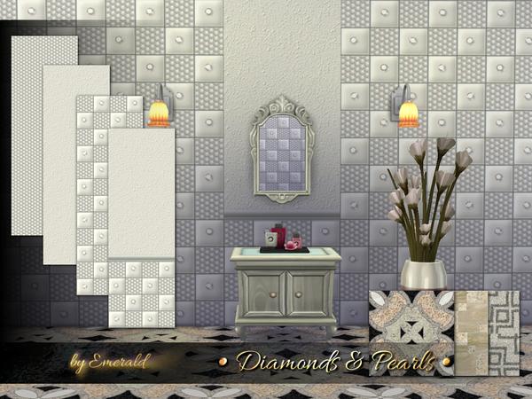 Diamonds & Pearls Wall By Emerald