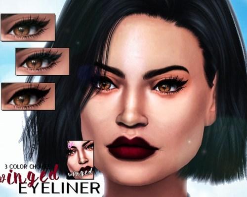 Winged Eyeliner by SenpaiSimmer