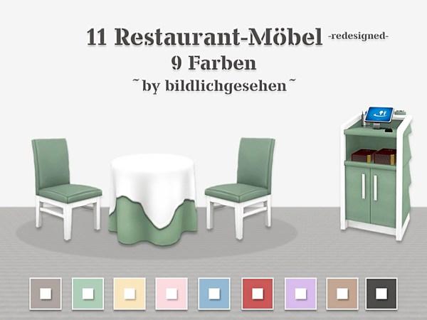 Restaurant Furniture Recolors By Bildlichgesehen