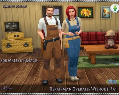 Repairman Overalls Without Hat
