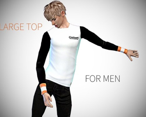 Large Top For Men by PINEAPPLEGIRL