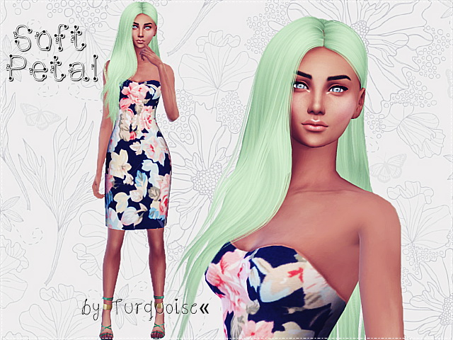 Romantic Heart Flowers Dresses By Turquoise