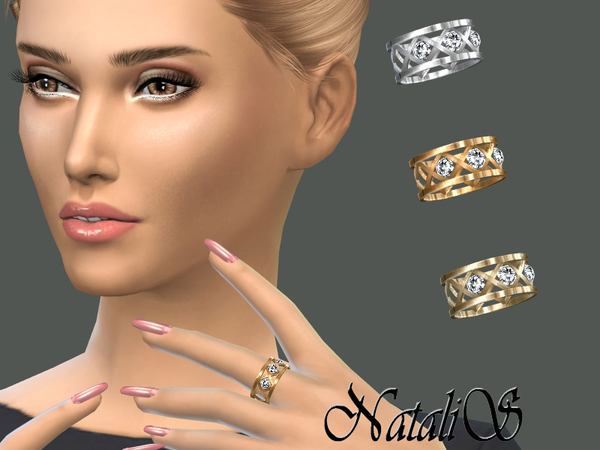 Cage And Crystals Ring By NataliS