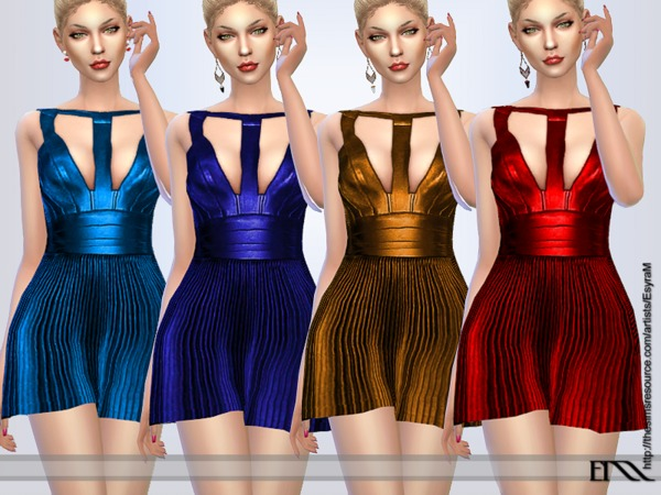 Pleated Leather Dress By EsyraM