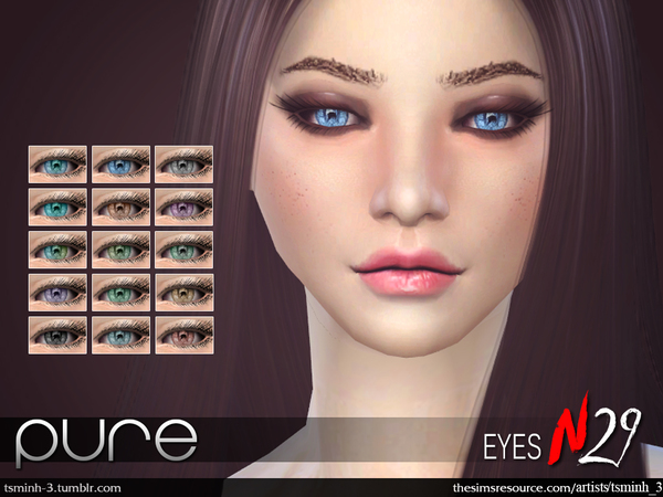 Pure Eyes By TsminhSims