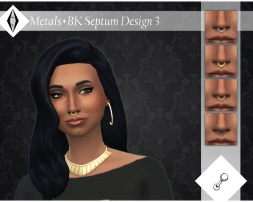 Metals + BK Septum Design 3 NoseRingR by ALExIA483
