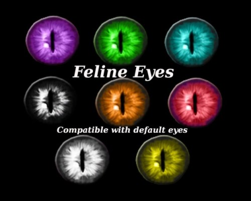 Updated Feline eyes by Simalicious