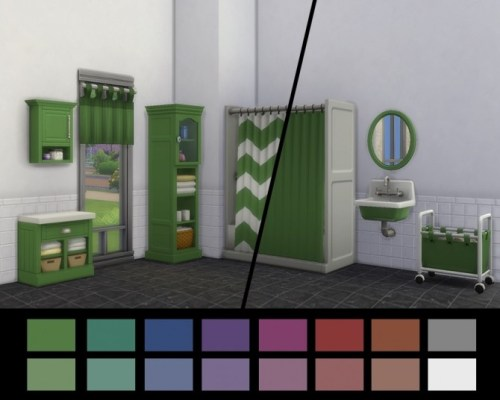 Parenthood Bathroom Items Recoloured by simsessa