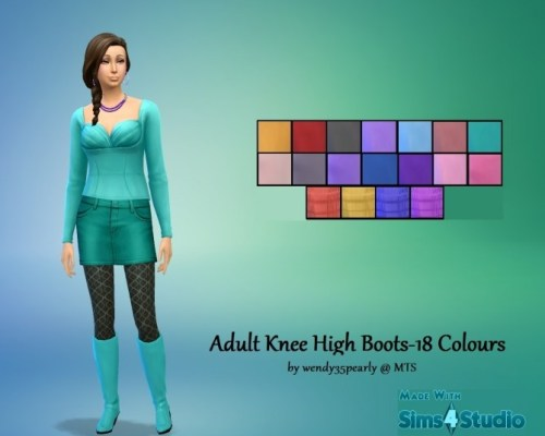 Get Together KneeHigh Boots-18 Recolours by wendy35pearly